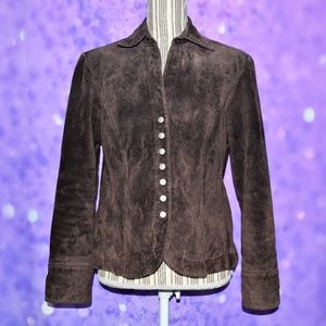 Live A Little Suede Jacket Brown
